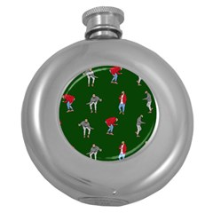 Drake Ugly Holiday Christmas Round Hip Flask (5 Oz) by Onesevenart