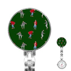 Drake Ugly Holiday Christmas Stainless Steel Nurses Watch by Onesevenart