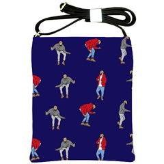 Drake Ugly Holiday Christmas Shoulder Sling Bags by Onesevenart