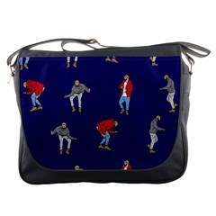 Drake Ugly Holiday Christmas Messenger Bags by Onesevenart