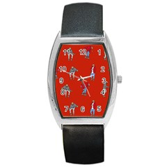 Drake Ugly Holiday Christmas Barrel Style Metal Watch by Onesevenart