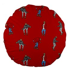 Drake Ugly Holiday Christmas Large 18  Premium Flano Round Cushions by Onesevenart