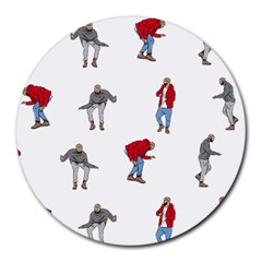 Drake Ugly Holiday Christmas Round Mousepads by Onesevenart