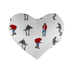 Drake Ugly Holiday Christmas Standard 16  Premium Heart Shape Cushions by Onesevenart