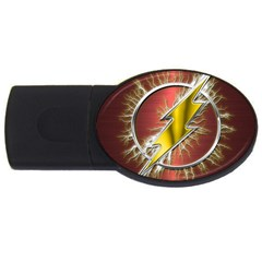 Flash Flashy Logo Usb Flash Drive Oval (4 Gb) by Onesevenart