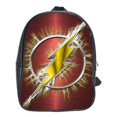 Flash Flashy Logo School Bags (xl)  by Onesevenart