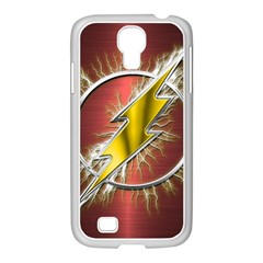 Flash Flashy Logo Samsung Galaxy S4 I9500/ I9505 Case (white) by Onesevenart