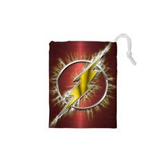 Flash Flashy Logo Drawstring Pouches (xs)  by Onesevenart