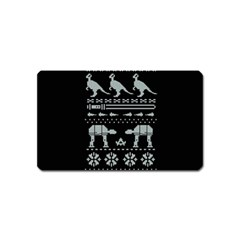 Holiday Party Attire Ugly Christmas Black Background Magnet (name Card) by Onesevenart