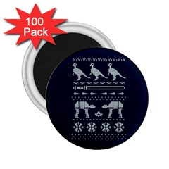 Holiday Party Attire Ugly Christmas Blue Background 2 25  Magnets (100 Pack)  by Onesevenart