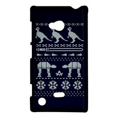 Holiday Party Attire Ugly Christmas Blue Background Nokia Lumia 720 by Onesevenart
