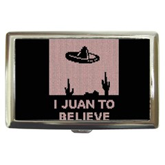 I Juan To Believe Ugly Holiday Christmas Black Background Cigarette Money Cases by Onesevenart