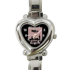 I Juan To Believe Ugly Holiday Christmas Black Background Heart Italian Charm Watch by Onesevenart