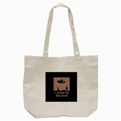 I Juan To Believe Ugly Holiday Christmas Black Background Tote Bag (cream) by Onesevenart