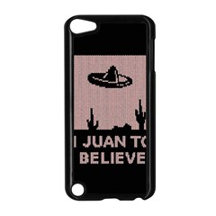 I Juan To Believe Ugly Holiday Christmas Black Background Apple Ipod Touch 5 Case (black) by Onesevenart