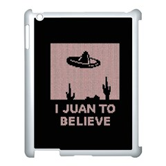 I Juan To Believe Ugly Holiday Christmas Black Background Apple Ipad 3/4 Case (white) by Onesevenart