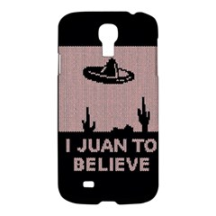 I Juan To Believe Ugly Holiday Christmas Black Background Samsung Galaxy S4 I9500/i9505 Hardshell Case by Onesevenart