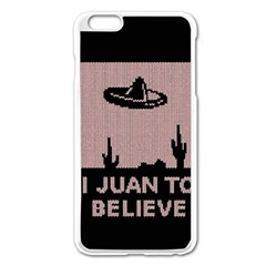 I Juan To Believe Ugly Holiday Christmas Black Background Apple Iphone 6 Plus/6s Plus Enamel White Case by Onesevenart