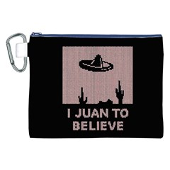 I Juan To Believe Ugly Holiday Christmas Black Background Canvas Cosmetic Bag (xxl) by Onesevenart
