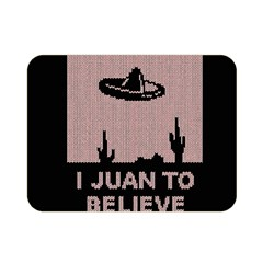 I Juan To Believe Ugly Holiday Christmas Black Background Double Sided Flano Blanket (mini)  by Onesevenart