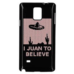 I Juan To Believe Ugly Holiday Christmas Black Background Samsung Galaxy Note 4 Case (black) by Onesevenart