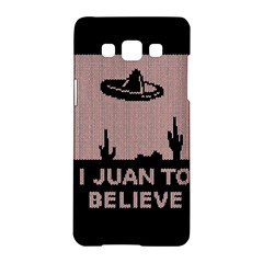 I Juan To Believe Ugly Holiday Christmas Black Background Samsung Galaxy A5 Hardshell Case  by Onesevenart