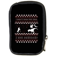 I Wasn t Good This Year, I Was Awesome! Ugly Holiday Christmas Black Background Compact Camera Cases by Onesevenart