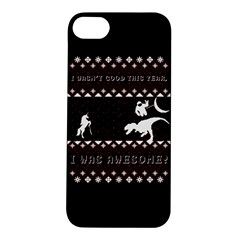 I Wasn t Good This Year, I Was Awesome! Ugly Holiday Christmas Black Background Apple Iphone 5s/ Se Hardshell Case by Onesevenart