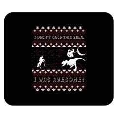 I Wasn t Good This Year, I Was Awesome! Ugly Holiday Christmas Black Background Double Sided Flano Blanket (small)  by Onesevenart