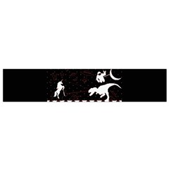 I Wasn t Good This Year, I Was Awesome! Ugly Holiday Christmas Black Background Flano Scarf (small) by Onesevenart