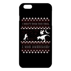 I Wasn t Good This Year, I Was Awesome! Ugly Holiday Christmas Black Background Iphone 6 Plus/6s Plus Tpu Case by Onesevenart