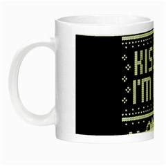 Kiss Me I m Irish Ugly Christmas Black Background Night Luminous Mugs by Onesevenart