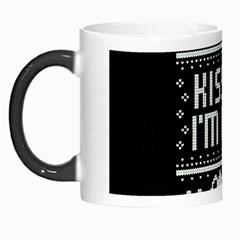 Kiss Me I m Irish Ugly Christmas Black Background Morph Mugs by Onesevenart