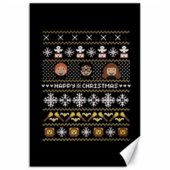 Merry Nerdmas! Ugly Christma Black Background Canvas 20  X 30   by Onesevenart