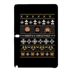 Merry Nerdmas! Ugly Christma Black Background Samsung Galaxy Tab Pro 10 1 Hardshell Case by Onesevenart