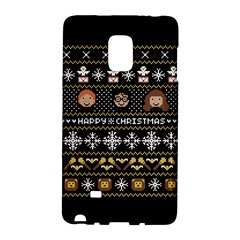 Merry Nerdmas! Ugly Christma Black Background Galaxy Note Edge by Onesevenart