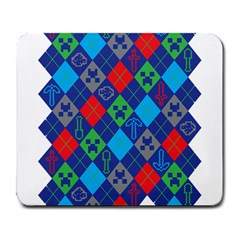 Minecraft Ugly Holiday Christmas Large Mousepads by Onesevenart