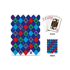 Minecraft Ugly Holiday Christmas Playing Cards (mini)  by Onesevenart