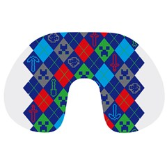 Minecraft Ugly Holiday Christmas Travel Neck Pillows by Onesevenart