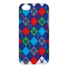 Minecraft Ugly Holiday Christmas Apple Iphone 5c Hardshell Case by Onesevenart