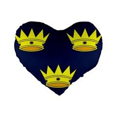 Flag Of Irish Province Of Munster Standard 16  Premium Flano Heart Shape Cushions