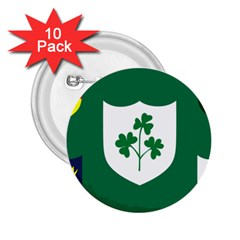 Ireland National Rugby Union Flag 2 25  Buttons (10 Pack)  by abbeyz71