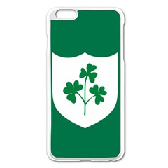 Ireland National Rugby Union Flag Apple Iphone 6 Plus/6s Plus Enamel White Case by abbeyz71
