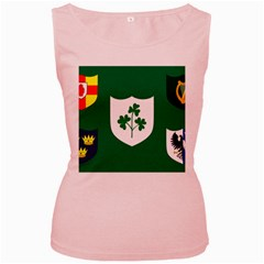 Ireland National Rugby Union Flag Women s Pink Tank Top by abbeyz71