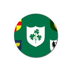 Ireland National Rugby Union Flag Magnet 3  (round) by abbeyz71