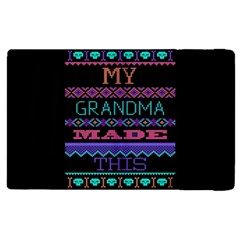 My Grandma Made This Ugly Holiday Black Background Apple Ipad 2 Flip Case by Onesevenart