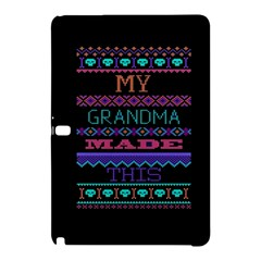 My Grandma Made This Ugly Holiday Black Background Samsung Galaxy Tab Pro 10 1 Hardshell Case by Onesevenart