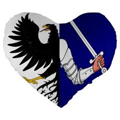 Flag Of Connacht Large 19  Premium Heart Shape Cushions by abbeyz71