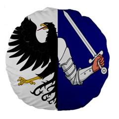 Flag Of Connacht Large 18  Premium Flano Round Cushions by abbeyz71