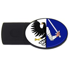 Flag Of Connacht Usb Flash Drive Oval (2 Gb) by abbeyz71